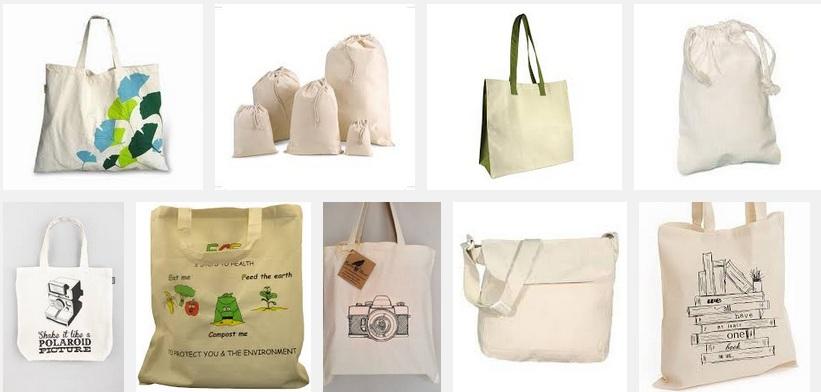 Túi vải cotton màu tự nhien